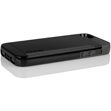 Incipio® Stowaway Credit Card Case For iPhone 5, Obsidian Black