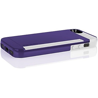 Incipio® Stowaway Credit Card Case For iPhone 5, Royal Purple/Optical White