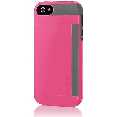 Incipio® Stowaway Credit Card Case For iPhone 5, Cherry Blossom Pink/Charcoal Gray