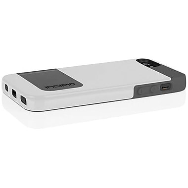 Incipio® Kicksnap Hard Case W/Kickstand For iPhone 5, Optical White/Charcoal Gray