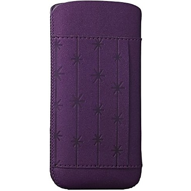 Ozaki® O!coat™ Snowflake Nature Leather Pouch For iPhone 5, Purple