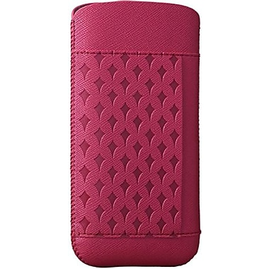 Ozaki® O!coat™ Star Shower Nature Leather Pouch For iPhone 5, Pink