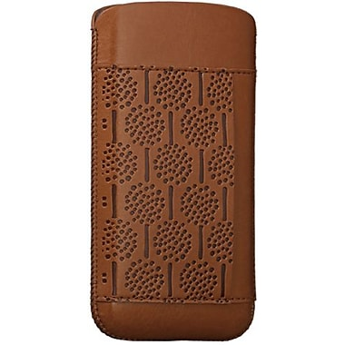 Ozaki® O!coat™ Forest Nature Leather Pouch For iPhone 5, Brown