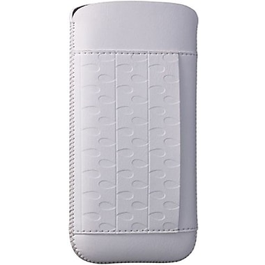Ozaki® O!coat™ Rain Nature Leather Pouch For iPhone 5, White