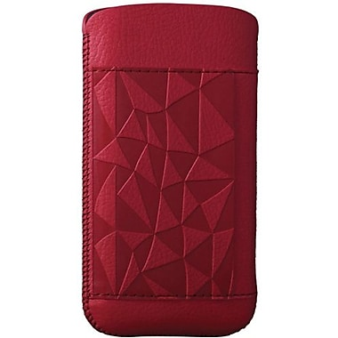 Ozaki® O!coat™ Rock Nature Leather Pouch For iPhone 5, Red
