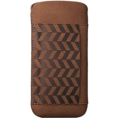 Ozaki® O!coat™ Lakes Nature Leather Pouch For iPhone 5, Brown