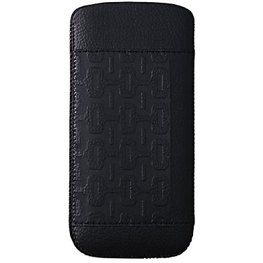 Ozaki® O!coat™ Volcano Nature Leather Pouch For iPhone 5, Black
