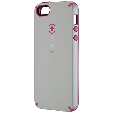 Speck® CandyShell Rubberized Hard Case For iPhone 5, Pebble Gray/Raspberry Pink