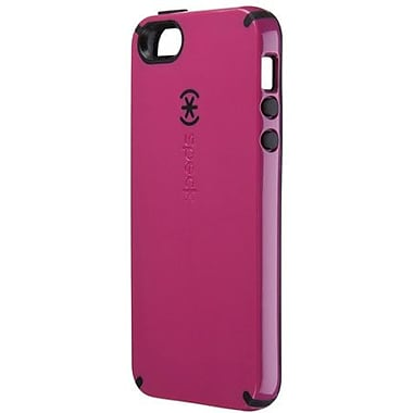 Speck® CandyShell Rubberized Hard Case For iPhone 5, Raspberry Pink/Black