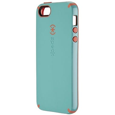 Speck® CandyShell Rubberized Hard Case For iPhone 5, Pool Blue/Wild Salmon Pink