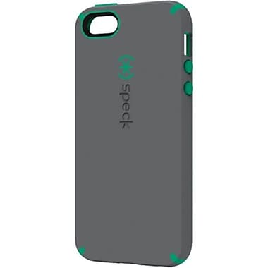 Speck® CandyShell Satin Rubberized Hard Case For iPhone 5, Graphite Gray/Malachite Green