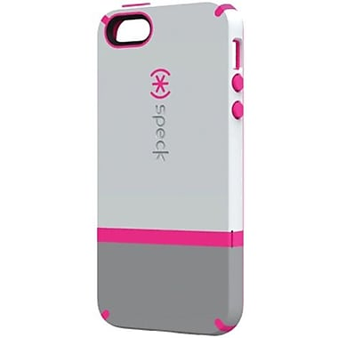 Speck® CandyShell Flip Rubberized Hard Case For iPhone 5, Pebble/Gravel/Raspberry