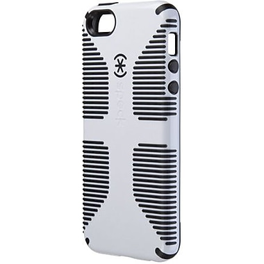Speck® CandyShell Grip Rubberized Hard Case For iPhone 5, White/Black
