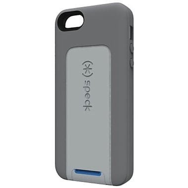Speck® SmartFlex View TPU Case For iPhone 5, Graphite Gray/Light Graphite Gray/Cobalt Blue