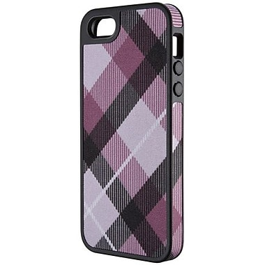 Speck® FabShell Hard Case W/Fabric For iPhone 5, Megaplaid Mulberry/Black