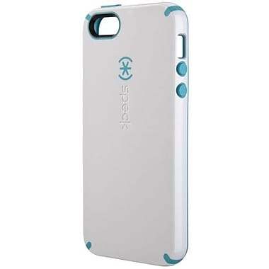 Speck® CandyShell Rubberized Hard Case For iPhone 5, White/Peacock Blue