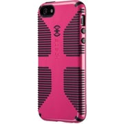 Speck® CandyShell Grip Rubberized Hard Case For iPhone 5, Raspberry Pink/Black