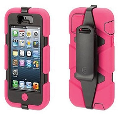Griffin Survivor Hybrid Case & Holster For iPhone 5, Pink/Black