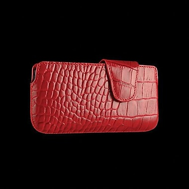 Sena Laterale Leather Holster For iPhone 5, Croco Red