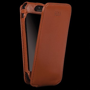 Sena Magnet Flipper Leather Case For iPhone 5, Tan