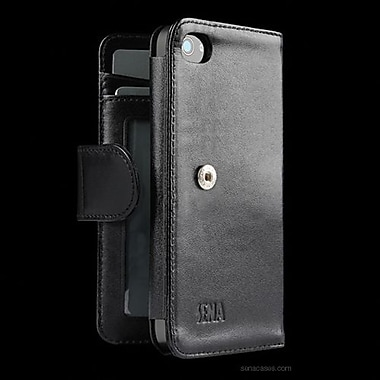 Sena WalletBook Leather Case For iPhone 5, Black