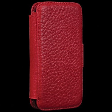 Sena WalletBook Leather Case For iPhone 5, Pebble Red