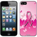 Coveroo Pink Ribbon Butterflies Thinshield Slim Case For iPhone 5, Black