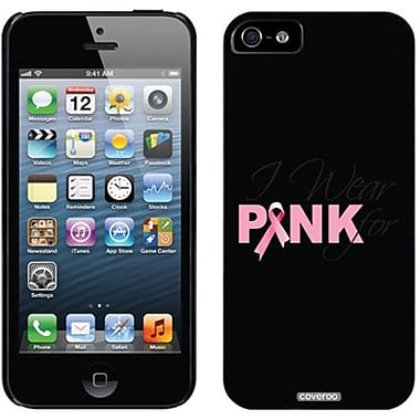 Coveroo Pink Ribbon I Wear Thinshield Slim Case For iPhone 5, Black