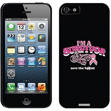 Coveroo I Am a Survivor Thinshield Slim Case For iPhone 5, Black