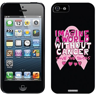 Coveroo A World Without Cancer Thinshield Slim Case For iPhone 5, Black