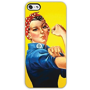 Headcase™ Rosie the Riveter Co-Molded Hybrid Case For iPhone 5, Yellow