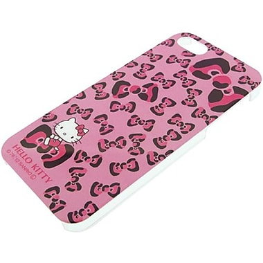 iDress Leopard Ribbon Hello Kitty Hard Case For iPhone 5, Pink