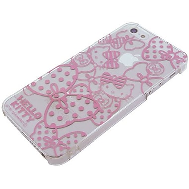 iDress Kitty & Mimmy Hello Kitty Metallic Hard Case For iPhone 5, White/Red