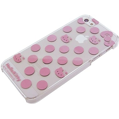 iDress Polka Dots Hello Kitty Metallic Hard Case For iPhone 5, White