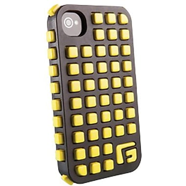 G-Form® Square RPT Hybrid Case For iPhone 4/4S, Black/Yellow