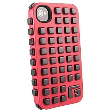 G-Form® Square RPT Hybrid Case For iPhone 4/4S, Red