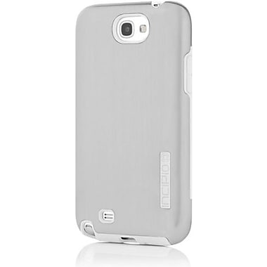 Incipio® DualPro Shine Hybrid Case For Samsung Galaxy Note II, Light Silver/White