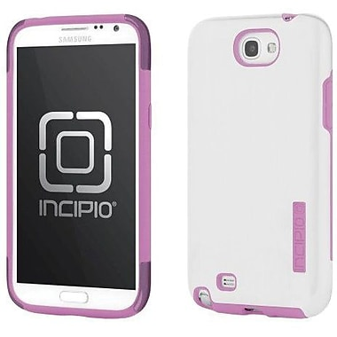Incipio® DualPro Shine Hybrid Case For Samsung Galaxy Note II, White/Hot Pink