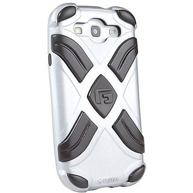 G-Form® Xtreme RPT Hybrid Case For Samsung Galaxy S III, Silver/Black