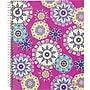 Staples® Fashion Accel Durable Poly Cover Notebook, Kaleidoscope,