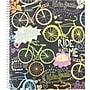 Staples® Fashion Accel Durable Poly Cover Notebook, Bikes,