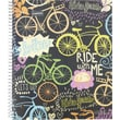Staples® Fashion Accel Durable Poly Cover Notebook, Bikes, 8-1/2in. x 11in.
