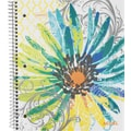 Staples® Fashion Accel Durable Poly Cover Notebook, Flower, 8-1/2in. x 11in.