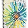 Staples® Fashion Accel Durable Poly Cover Notebook, Flower,