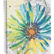 Staples® Fashion Accel Durable Poly Cover Notebook, Flower, 8-1/2 x 11