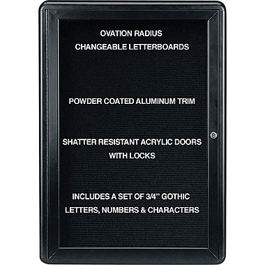 Ghent® Ovation Changeable Letter Board, 1 Door, 24
