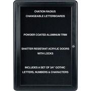 GhentMD – Ovation, tableau à lettres amovibles, 1 porte, 24 x 34 po