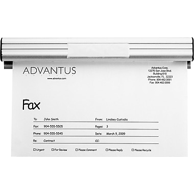Advantus® Grip-A-Strip Page Fax & Message Holder, 9