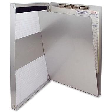 Saunders – Planchette à pince avec rangement, aluminium, 14 x 8,5 po