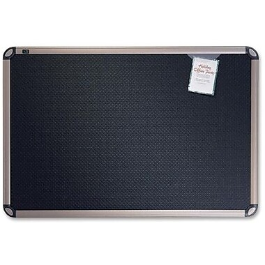 Quartet® Prestige® Euro™ Black Embossed Foam Bulletin Board, 36